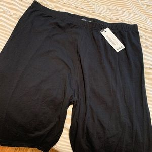 Plus size biker shorts
